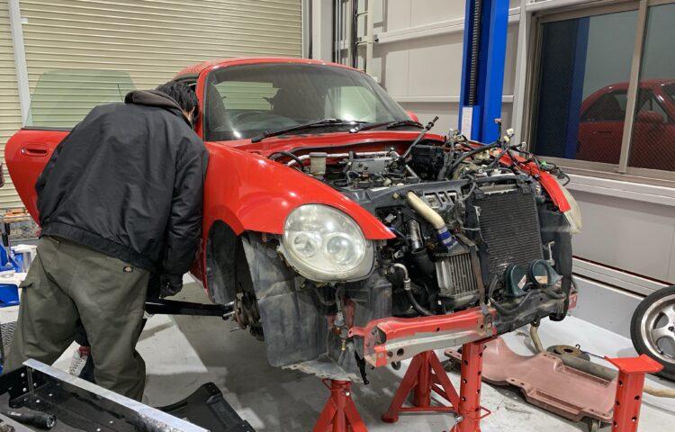 コペンMT車 クラッチ交換作業
